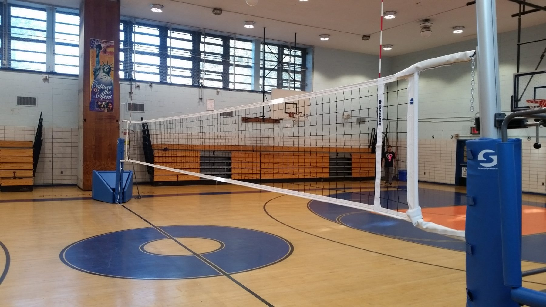 J.H.S. 8 New Volleyball System Installation