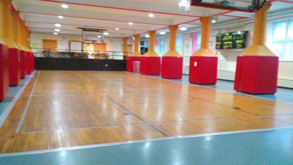M933 Gym Floor Refinishing and Logo